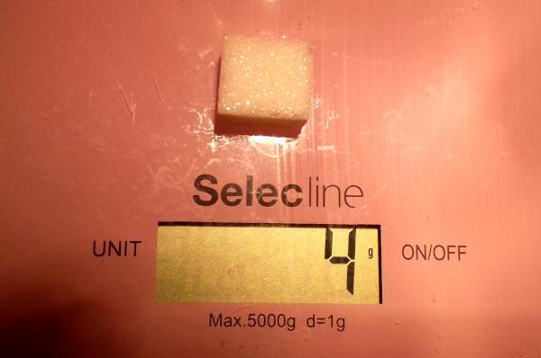 1 kockacukor hány gramm?, kockacukor súlya