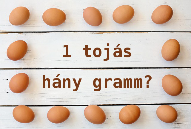 1 tojás hány gramm