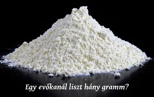 egy evőkanál liszt hány gramm