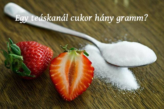 egy teáskanál cukor hány gramm